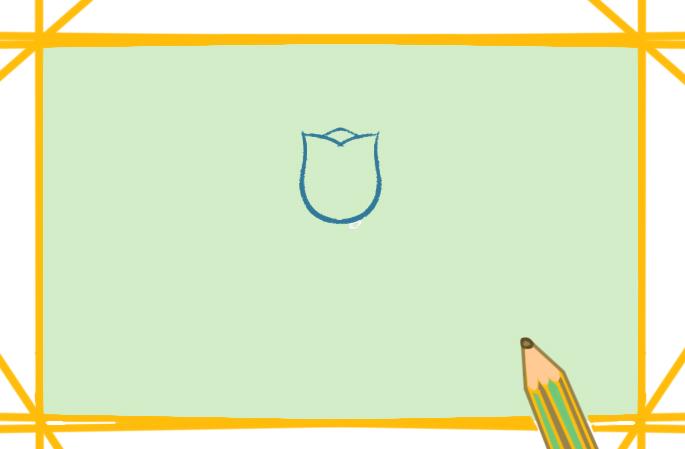 美好的郁金香简笔画图片教程
