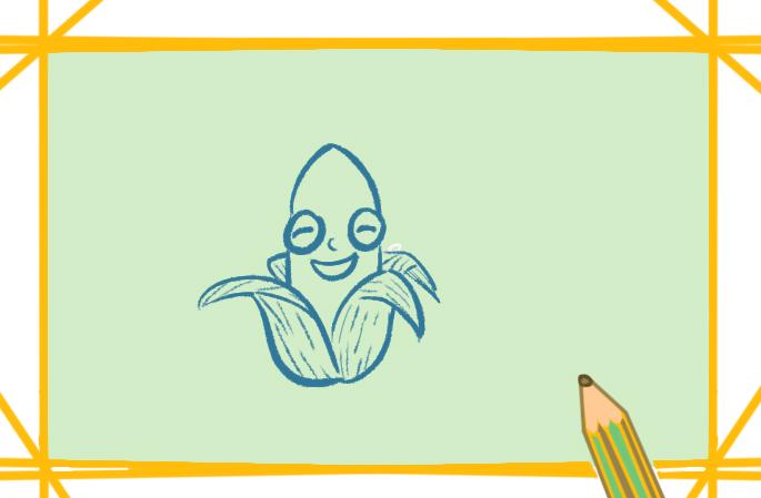 健康谷物之玉米简笔画图片教程