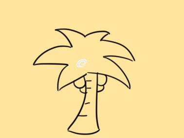 好看的椰子树简笔画要怎么画
