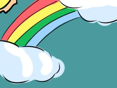 天边的彩虹简笔画要怎么画