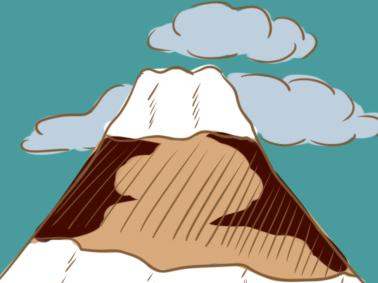 日本富士山簡筆畫要怎么畫