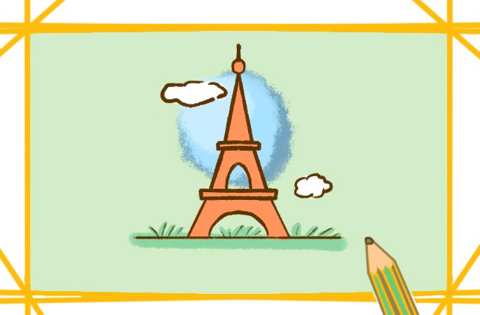 美丽的埃菲尔铁塔简笔画图片要怎么画