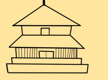 简易的古风建筑简笔画要怎么画