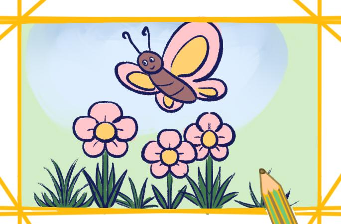 春日景色简笔画图片教程