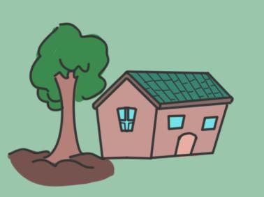 農村的房子簡筆畫要怎么畫