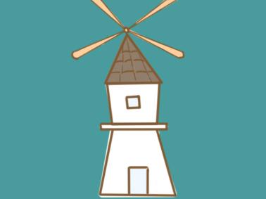 简单的风车简笔画要怎么画