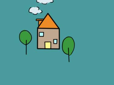 農村的小房子兒童簡筆畫要怎么畫