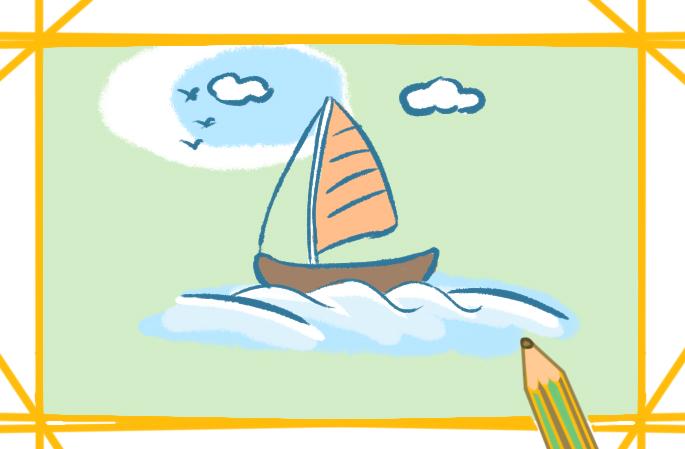 美丽的海景简笔画要怎么画