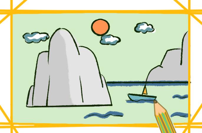 山河美景簡筆畫要怎么畫風景簡筆畫