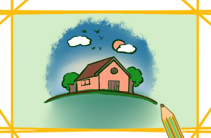 森林中的小房子簡筆畫要怎么畫