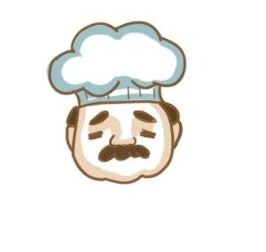 廚房的廚師簡筆畫怎么畫