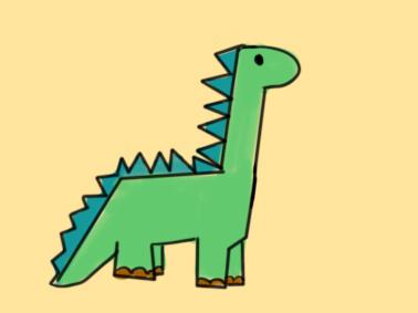 高大的恐龙简笔画要怎么画