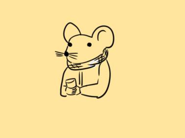 春節手抄報老鼠簡筆畫素材