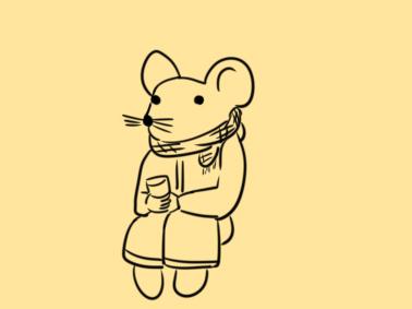 春节手抄报老鼠简笔画素材