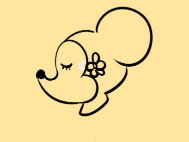 甜美的小老鼠簡筆畫怎么畫