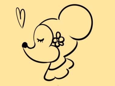 甜美的小老鼠简笔画怎么画