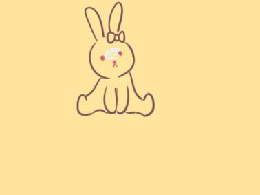 漂亮的小白兔简笔画怎么画
