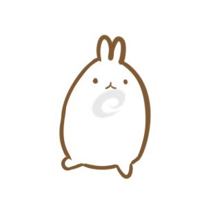 超简单的卡通兔子简笔画原创教程步骤
