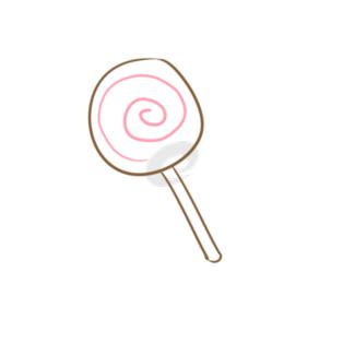 可愛的棒棒糖簡筆畫怎么畫