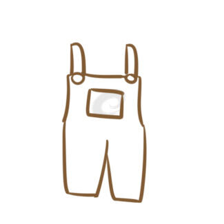 可愛的連體褲簡筆畫怎么畫