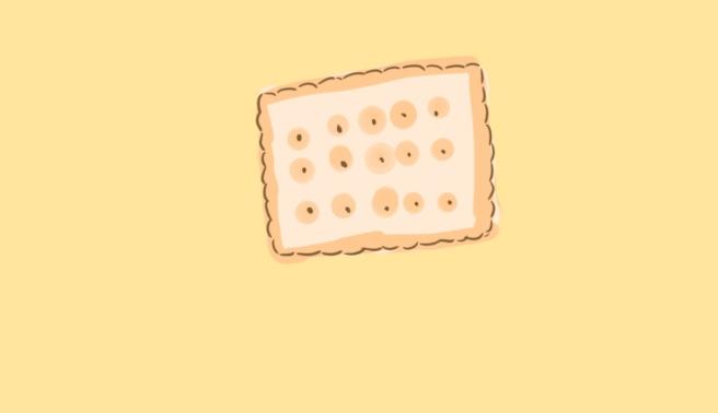 超簡單的梳打餅簡筆畫原創教程步驟