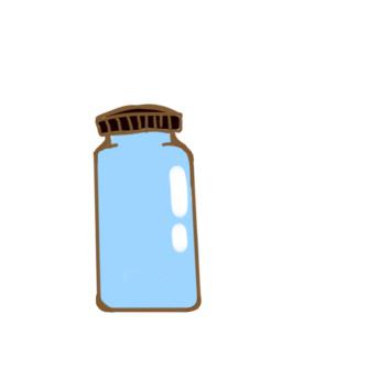 漂亮的玻璃瓶簡筆畫怎么畫