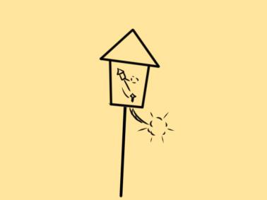 超簡單的竄天猴簡筆畫步驟圖