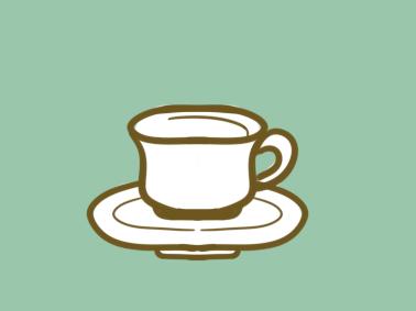 潔白的咖啡杯原創簡筆畫要怎么畫