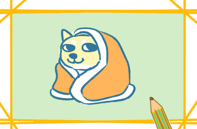 柴犬表情包简笔画图片教程