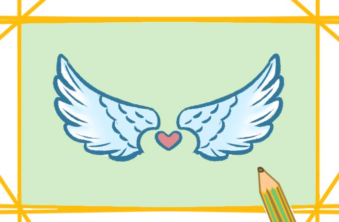 唯美的翅膀简笔画图片教程