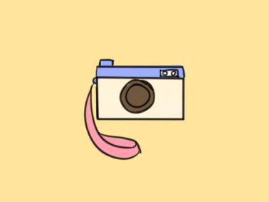 漂亮的相机简笔画要怎么画