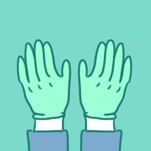 漂亮的医用手套简笔画要怎么画