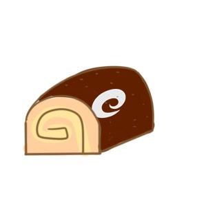 美味的蛋糕卷簡筆畫教程