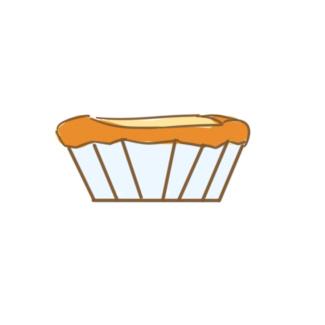 淡黄色的蛋挞简笔画要怎么画