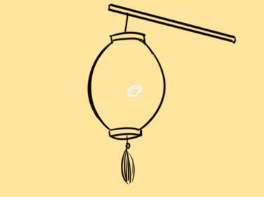 好看的灯笼简笔画怎么画