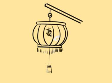 超簡單的小燈籠簡筆畫步驟圖