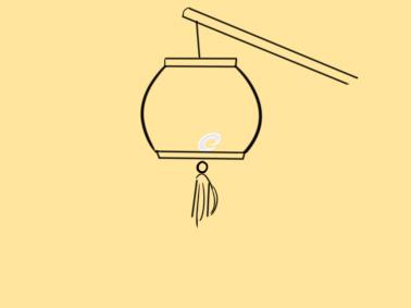 喜慶的燈籠簡筆畫怎么畫
