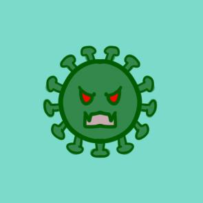 新型冠状病毒简笔画要怎么画