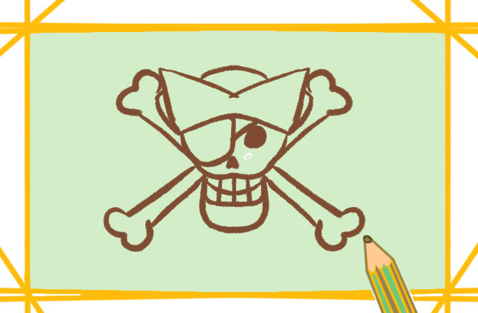 大航海之海盗简笔画要怎么画