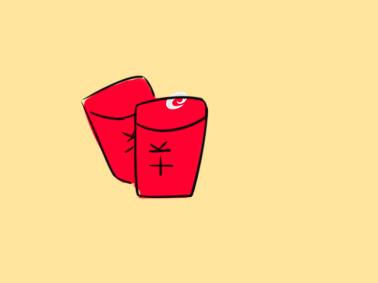 超簡單的紅包簡筆畫步驟圖