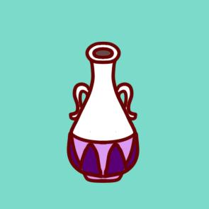 彩色花瓶的简笔画成品