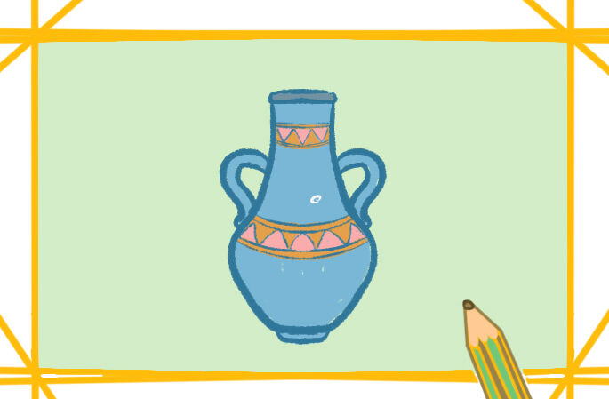 优雅的花瓶简笔画要怎么画 优雅的花瓶简笔画原创教程步骤 5068儿童网