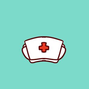 纯白的护士帽的简笔画原创教程步骤 5068儿童网