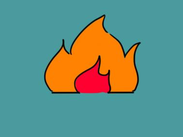 跳跃的火焰简笔画要怎么画