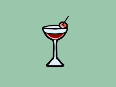 超简单的酒杯简笔画步骤图