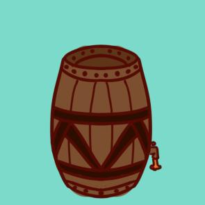 桶装啤酒简笔画原创教程步骤