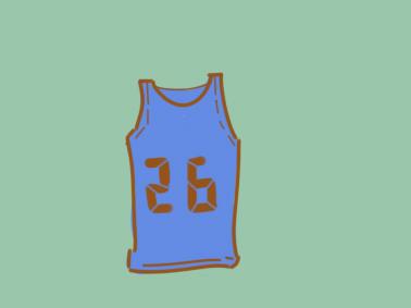 篮球背心简笔画要怎么画