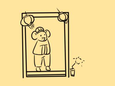 過新年的老鼠簡筆畫怎么畫