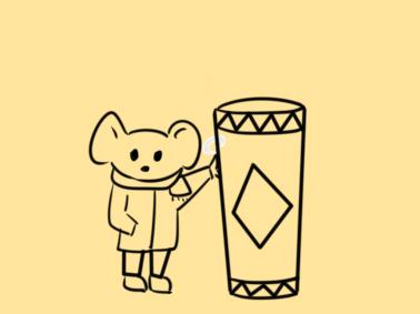 老鼠与爆竹简笔画怎么画