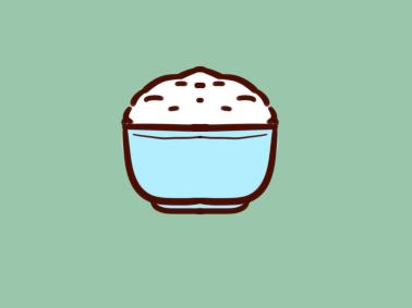 粮食米饭简笔画要怎么画